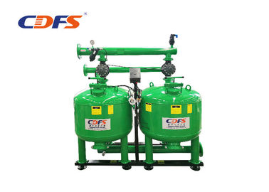 Manual Auto Backwash Sand Filter , Green Pressure Sand Filter Water Treatment