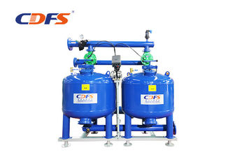 Carbon Steel Automatic Sand Filter Blue Color Customized Voltage With Thick Layer