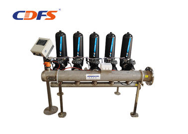 PLC Control Automatic Backwash Disc Water Filtration System For Paper Industry