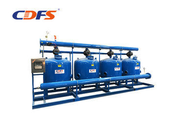 15 Microns Sand Media Filter For Removing Suspended Solids Carbon Steel Material