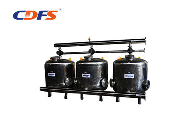Carbon Steel Multimedia Sand Filter , 2 - 8 Bar Water Softener Sand Filter