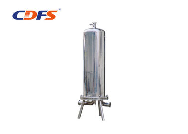 SS Cartridge Water Precision Filter , 5 / 10 Micron Vertical Pressure Filter