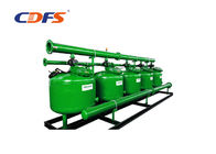 Stainless Steel Deep Bed Sand Filter , Green Automatic Backwash Sediment Filter